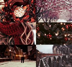 harry potter aesthetics: gryffindor winter/christmas 1/2