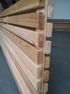 Cedar Hit and Miss Fence Panels - Modern Design Wood Fence Design, Privacy Fence Designs, Backyard Fences, Backyard Projects, Diy Fence, Fence Ideas, Indoor Garden, Outdoor Gardens, Back Garden Design