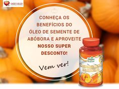 Óleo de semente de Abóbora Aqui tem!  Conheça os beneficio do óleo de semente de abóbora e aproveite nosso super descontos!  Cuide da sua Saúde com Produtos de Qualidade... Temos mais ofertas para você ficar em dia com sua Saúde. Confira!  http://www.maissaudeebeleza.com.br/p/552/oleo-de-semente-de-abobora-c60-capsulas-1000-mg?utm_source=pinterest&utm_medium=link&utm_campaign=Óleo+Semente+Abóbora&utm_content=post