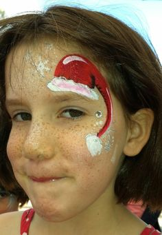 Kids face painting, Christmas Santa1