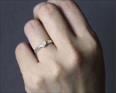 1108dfd471eb Regalo huella digital joyas • delicada huella digital corazón anillo •  huella pequeña anillo • círculo