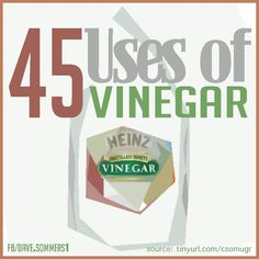45 USES FOR VINEGAR! Discover innovative solutions to everyday problems with a product you already have in your kitchen. ). .