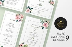 Wedding Invitation Suite - Jeaninne by Print The Love Boutique on @creativemarket