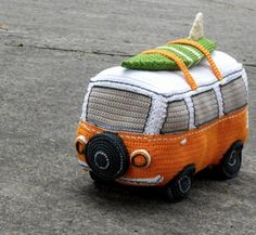 This Crochet Volkswagen Bus is a fantastic FREE Pattern that's fun to make. Check out the Vintage Crochet Caravan Free Pattern and the other cute projects too!