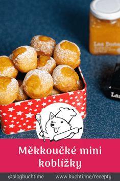 Měkoučké mini koblížky plněné ananasovo-kokosovým nebíčkem. Maličkaté mini koblížky naplněné ananasovo-kokosovou marmeládou si zamilujete na jeden kous a budete chtít. Tato netradiční marmina udělá z koblížků skvost. | @blogkuchtime | #recepty #jidlo #inspirace #vareni #kucharka #foodblog Breakfast, Food, Pineapple, Morning Coffee, Essen, Meals, Yemek, Eten