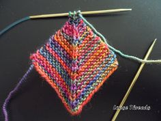 Knit Mitered Square Blanket Click here for my revision to this blanket. It will show you how to join squares and how to add the squar...