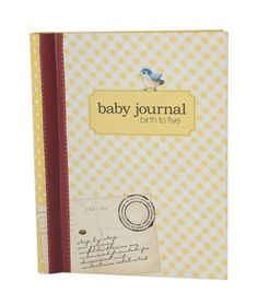 Our gorgeous baby journals will also come in pink and blue