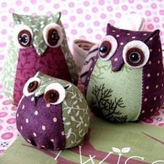 I found these incredibly sweet DIY owls on the Brazilian blog, Artes com Capricho.