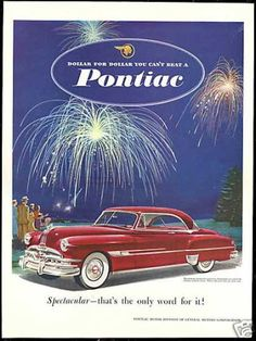size: Stretched Canvas Print: GM Pontiac - Dollar for Dollar : Using advanced technology, we print the image directly onto canvas, stretch it onto support bars, and finish it with hand-painted edges and a protective coating. Vintage Advertisements, Vintage Ads, Vintage Posters, Vintage Bicycles, Vintage Motorcycles, General Motors, Grand Chef, Vintage Trends, Car Advertising