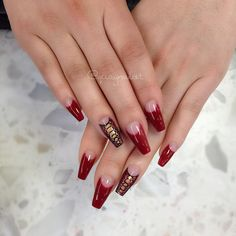 """98 Likes, 2 Comments - QuayNaild'it (@quaynaildit) on Instagram: """"Getting intricate... #beauty #style #anastasiabeverlyhills #brian_champagne #red #pretty #nails…"""""""
