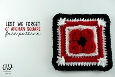 Lest We Forget Square | Free Pattern | Oombawka Design Crochet