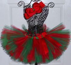 SALE Christmas Tutu Baby Girl Tutu Holiday Tutu by SugarSweetBows