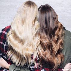 Gorgeous locks & a bestie by your side - what else does a girl need?! Photo by @janelleloveshair