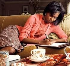 First Lady Obama having tea! Fab!
