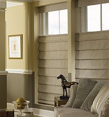 top down or bottom up custom tailored diamond roman shades