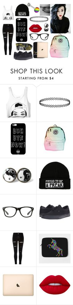 """""""School"""" by rainbowsdear on Polyvore featuring beauty, Vans and Lime Crime"""