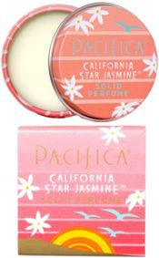 Pacifica California Star Jasmine Solid Perfume ~ floral based perfume. 100% Natural Perfume. A modern take on the most ancient form of fragrance, Pacifica's dazzling new Solid Perfumes are made with organic soy and coconut wax and Pacifica's signature perfume blends with essential and natural oils. Dreamy with notes of star jasmine, orange and faint driftwood. Vegan. http://www.theremustbeabetterway.co.uk/pacifica-california-star-jasmine-solid-perfume.html