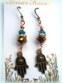 Hamsa Hand Gypsy Witch Earrings Hand of Fatima