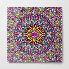 Vivid Life Mandala Metal Print by David Zydd #BestMetalPrints #MandalaMetalPrint #Artist #Geometric #Vivid #MandalaHomeDecoration #Abstract #Color (tags: color, metal, life, decor, colors, art, home decoration ideas, floral art, society6, home decorating, boho, design, wall design, home decor, mandala print, xmas, hippie, floral mandala, relaxing) Mandala Artwork, Mandala Print, Geometric Artwork, Bohemian Wall Decor, Bohemian Room, Boho, Mandala Coloring, Sacred Geometry, Metal Art