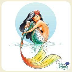 Every mermaid loves ice coffee