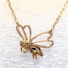 14k Gold Honey Bee With Citrine by Goldcrafter's Corner.......
