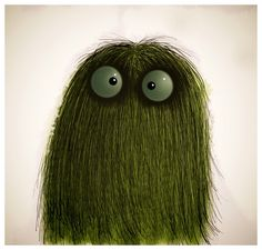 pinner says: Grass monster. First try with Procreate on he iPad. Such mad fun.