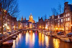 Es precioso cuando anochece así, www.ViajaraAmsterdam.com #turismo #guia #visitar #viajar