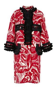 Shop Red Un-Named Floral Emperor Coat by Marc Jacobs for Preorder on Moda Operandi