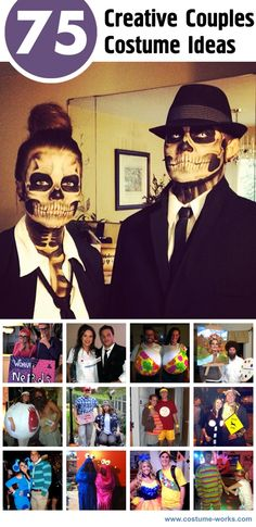 75 Creative Couples Halloween Costume Ideas. #Halloween #couples #costumes