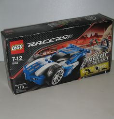 Lego Racers have motor action and are fun. This one is set 8163, called Blue Sprinter Car. $29.95 #ck  #lego