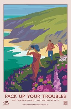 Pembrokeshire Coast National Park, U.K. - 60th anniversary travel poster  (not vintage)