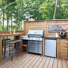 Outdoor Kitchen Grill, Outdoor Grill Station, Patio Grill, Pizza Oven Outdoor, Backyard Kitchen, Outdoor Kitchen Design, Outdoor Cooking, Kitchen Decor, Patio Bar