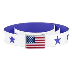 American Flag And Stars Belt