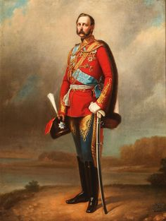 Attributed to VLADIMIR VASILIEVICH PEROV (Russian 1868-1898) Portrait of Tsar Alexander II -circa 1875 Oil on canvas