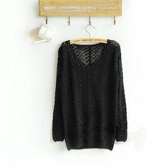 Mara Knit V Neck Pullover Sweater