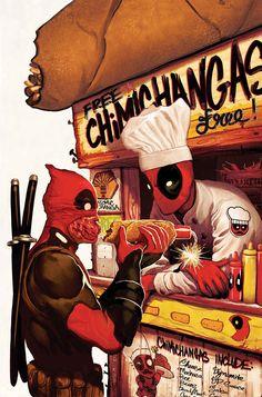 #Deadpool #Fan #Art. (DEADPOOL KILLS DEADPOOL #2 (of 4) Cover) By: MICHAEL DEL MUNDO. AWESOMENESS!!!