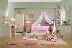 pink bedroom!  http://www.interiordesign-world.com/other/pretty-in-pink-35-elegant-girls-bedroom-suggestions-in-pink-for-the-contemporary-property/