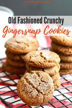 This recipe for Old-Fashioned Crunchy Gingersnap Cookies from scratch is easy to make. The cookies are the best, with a strong ginger flavor and are full of dark, sweet, pungent molasses, and warm aromatic spices including cloves and cinnamon. Cookie Recipes From Scratch, Best Cookie Recipes, Baking Recipes, Easy Desserts, Dessert Recipes, Bar Recipes, Cinnamon Cookies, Molasses Cookies, Easy Homemade Recipes