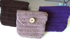 Crochet belt pouch.bag   video 1.  Bolsita para cinto en crochet  Video 1