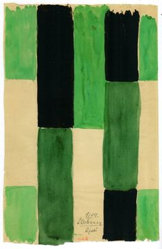 Sonia Delaunay, watercolour on paper, 1924