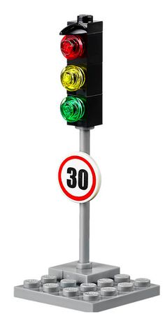 LEGO City TRAFFIC LIGHT with speed sign 30, split from 40170 NEW | eBay