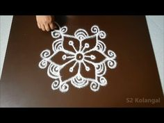 easy rangoli designs with 5 to 3 interlaced dots- simple muggulu designs- kolam designs with dots - YouTube