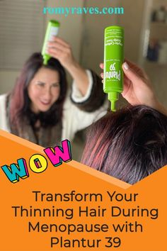 Ok, exciting topic huh? So guess what, as we enter or go through menopause, our hair changes (like everything else I guess). I'm noticing my hair getting thinner and am not a fan! Checkout my latest RAVE - Plantur 39 - read all about it here and learn why I'm raving! #haircare #antiaging #aging #hair #menopause