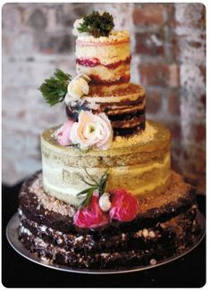 Love the various flavours on each tier (http://milkbarstore.com/main/weddings/)