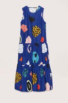 Gorman clothing - Gorman x Bingo atelier - Fleur Bleue Long Dress