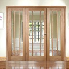 Easi-Frame Oak Door Set, GOWOR-COEOP27, 2005mm Height, 2138mm Wide. #worcesterdoor #internaloakdoorwithglass #easiframes