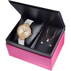 Kit Relógio Feminino Lince Analógico Casual LRRJ018L/K672R2BX