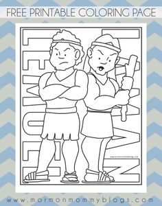 book of mormon pictures to color | Free LDS Coloring Pages - Laman and Lemuel