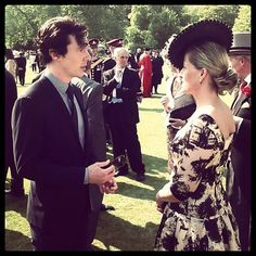 Countess of Wessex with Benedict Cumberbatch, June 6, 2013 | The Royal Hats Blog
