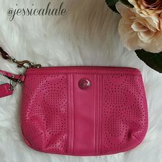 "Coach Wristlet Vibrant pink Coach wristlet in ""like new""  excellent condition.   ☆☆Discount with Bundles☆☆ ☆☆Please use the offer button to negotiate☆☆ ☆☆No PP, Merc, Trades, or Holds☆☆  ♢♢Buy with Confidence♢♢ Suggested User / 5-Star rated Seller   ♡♡THANK YOU FOR VISITING♡♡ Coach Bags"